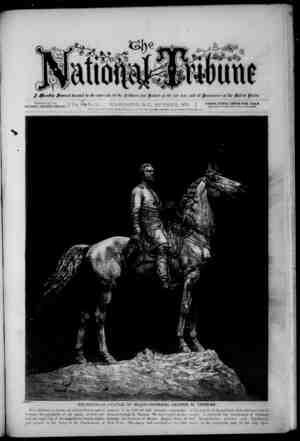 The National Tribune Gazetesi 1 Kasım 1879 kapağı