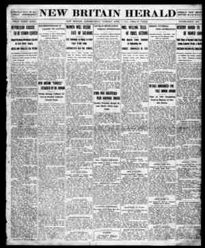 New Britain Herald Gazetesi 7 Nisan 1914 kapağı
