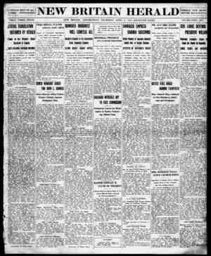 New Britain Herald Gazetesi 9 Nisan 1914 kapağı