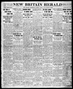 New Britain Herald Gazetesi 17 Nisan 1914 kapağı