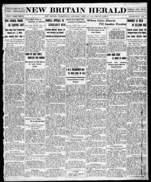 New Britain Herald Gazetesi 18 Nisan 1914 kapağı