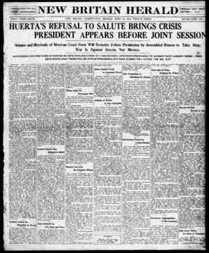 New Britain Herald Gazetesi 20 Nisan 1914 kapağı