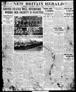 New Britain Herald Gazetesi 23 Nisan 1914 kapağı