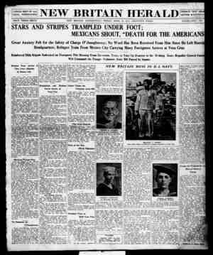 New Britain Herald Gazetesi 24 Nisan 1914 kapağı