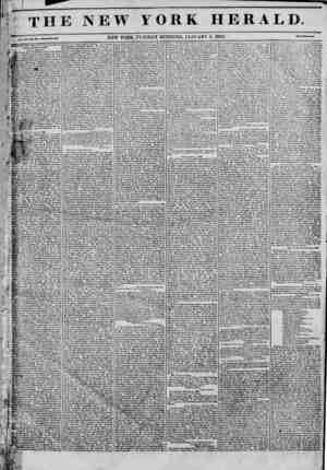 The New York Herald Gazetesi January 4, 1842 kapağı