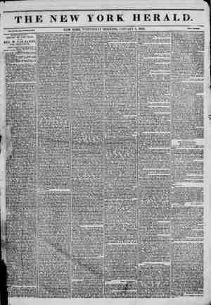 The New York Herald Gazetesi January 5, 1842 kapağı