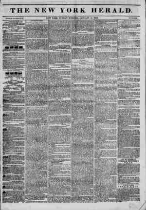 The New York Herald Gazetesi January 16, 1842 kapağı