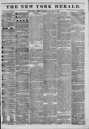 The New York Herald Gazetesi January 17, 1842 kapağı