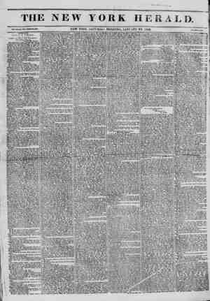 The New York Herald Gazetesi January 22, 1842 kapağı