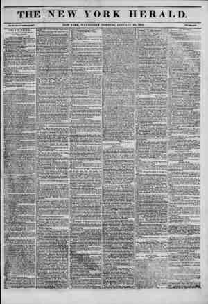 The New York Herald Gazetesi January 26, 1842 kapağı