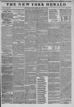 THE NEW YORK HERALD. vol aoo-wnoi. no. 3?06. NEW YORK, FRIDAY MORNING, JULY 26, 1844. two THE NEW YORK HERALD. AGGREGATE...