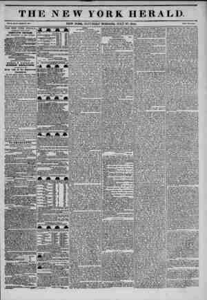 I i*a THE NEW YORK HERALD V-.X,...am. NEW YORK. SATURDAY MORNING. JULY 27. 1844. THE NEW YORK HERALD. AGGREGATE CIRCULATION