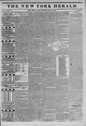 THE NEW YORK HERALD. ?- NEW YORK, MONDAY MORNING. JULY 29, 1844. THE NEW YORK HERALD. AGGREGATE CIRCULATION THIRTY-FIVE...