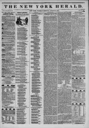 / THE NEW YORK HERALD. ? NEW YORK. TUESDAY MORNING. AUGUST 6. 1844. f?tw.c?, THE NEW YORK HERALD. AGGREGATE CIRCULATION...