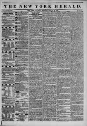 THE NEW YORK HERALD. Vol. X., Wo. ?41?Whole Wo. 39*41. NEW YORK, SATURDAY MORNING, AUGUST 10, 1844. Price Two Ceuta. THE NEW
