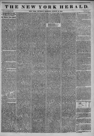 THE NEW YORK HERALD. Vol. X., No. NRUWholo No. 9840. NEW YORK, THURSDAY MORNING, AUGUST 29, 1844. Prlco Two Cent*. rue...