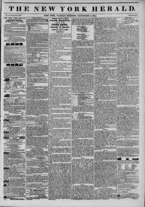 THE NEW YORK HERALD. Vol. X., No. 445?Whole No. 3845. NEW YORK, TUESDAY MORNING, SEPTEMBER 3, 1844. Prtco Two Cent?. THE NEW