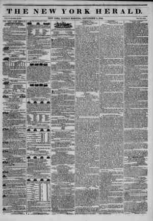 THE NEW YORK HERALD. -? ?? -4 Vol. X., Mo. SOU?Whole No. 3850. NEW YORK, SUNDAY MORNING, SEPTEMBER S, 1844. Prleo Two Cents.