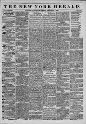 THE NEW YORK HERALD. Vol. X., No. 5133?Whole No. 3853. NEW YORK, WEDNESDAY MORNING, SEPTEMBER 11, 1844. PrlM Two Cents. THE