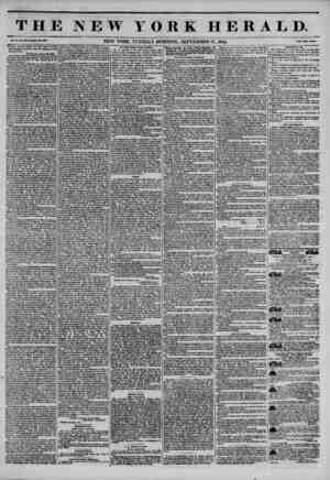 THE NEW YORK HERALD. Vol. X., Ao. M5U?WUola No. 38SO. NEW YORK. TUESDAY MORNING. SEPTEMBER 17. 1844. Prlet Two Contt* Another