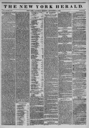 THE NEW YORK HERALD. , X., So. MUWlutU No, 3801 ? NEW YORK, SATURDAY MORNING, SEPTEMBER 21, 1844. Prtca Two Onto. Annual...