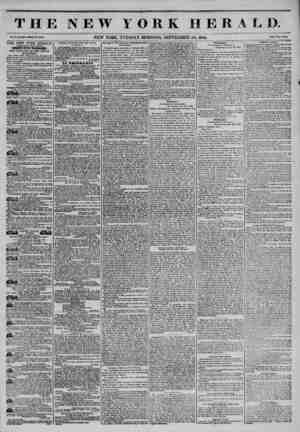 THE NEW YORK HERALD. NEW YORK, TUESDAY MORNING, SEPTEMBER 24, 1844. THE NEW YORK HERALD. AGGREGATE CIRCULATION THIRTY-FIVE