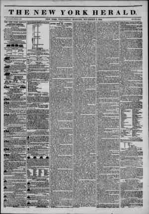 THE NEW YORK HERALD Vol. X., No. ao7?Wtool* Ho. 3?07. NEW YORK, WEDNESDAY MORNING, NOVEMBER 6, 1844. AGGREGATE CIRCULATION