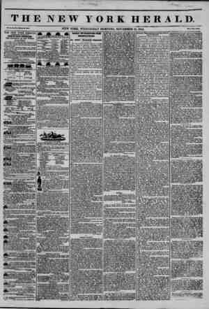 THE NEW YORK HERALD. Vol. XH No. 31?.Whola Ho. 3014. NEW YORK, WEDNESDAY MORNING, NOVEMBER 13, 1844. I*rlc? Two Ceata. THE