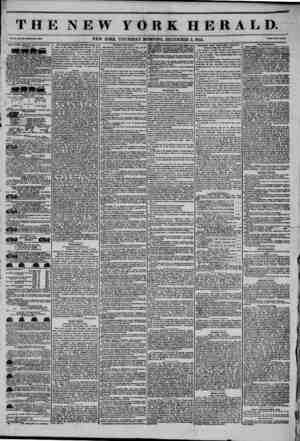 THE NEW YORK HERALD. Vol. X., Mo. 330-Whola ??. 3036. NEW YORK, THURSDAY MORNING, DECEMBER 5, 1844. Prleo Two Cmttt NEW YORK