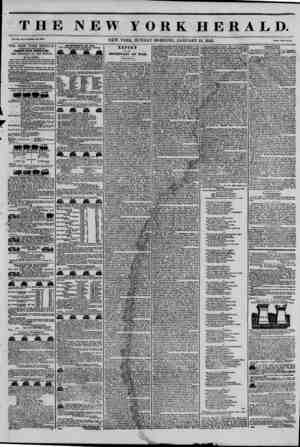 THE NEW YORK HERALD. Vol. XI., No. 11?Whole No. 3913. NEW YORK, SUNDAY MORNING, JANUARY 12, 1845. Price Two CenU, THE NEW...