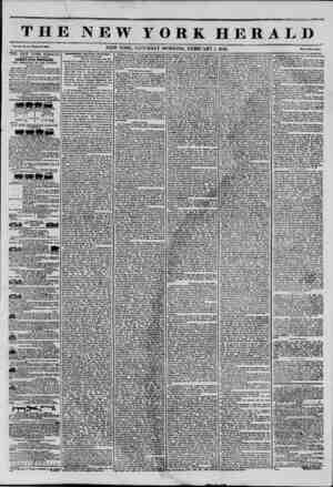 THE NEW YORK HERALD Vol. XI., No. 31?WUola No. 3003. NEW YORK. SATURDAY MORNING. FEBRUARY 1, 1845. Prlvo Two Cintu THE NEW