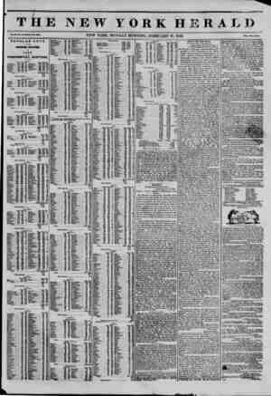 THE NEW YORK HERAI u . Vol. XI., No. 40?Whole No. 4003, NEW YORK. MONDAY MORNING, FEBRUARY 10, 1845. Price Two Centn. POPULAR
