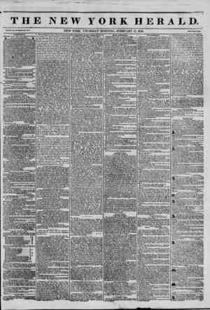 THE NEW YORK HERALD. Vol. XI., No. 43?Whole No. 4005. NEW YORK. THURSDAY MORNING, FEBRUARY 13, 1845. Price Two Cent#....