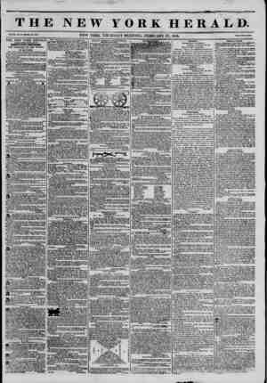 THE NEW YORK HERALD. Vol. XI., No. 07-Wbolo No. 401?. NEW YORK. THURSDAY MORNING. FEBRUARY 27, 1845. Prleo Two Conto. THE NEW