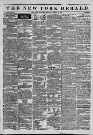 THE NEW YORK HERALD. v.*,., NEW YORK. MONDAY MORNING. MARCH 10. 1845. T-' THE NEW YORK HERALD AGGREGATE CIRCULATION...