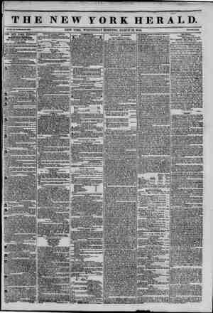 THE NEW YORK HERALD. NEW YORK. WEDNESDAY MORNING, MARCH 12, 1845. ? THE NEW YORK HERALD AGGREGATE CIRCULATION THIRTY-FIVE...