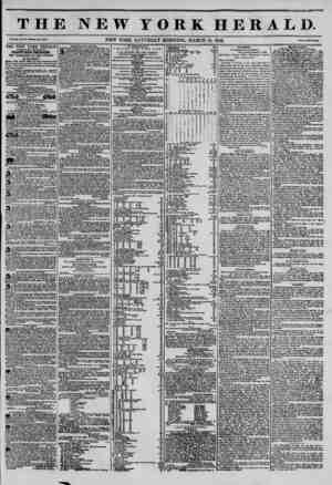 THE NEW YORK HERALD. Vol. XI., No. 75?Wliolo No. 4U3?. NEW YORK. SATURDAY MORNING. MARCH 15, 1845. Prlco Two Conta. THE NEW