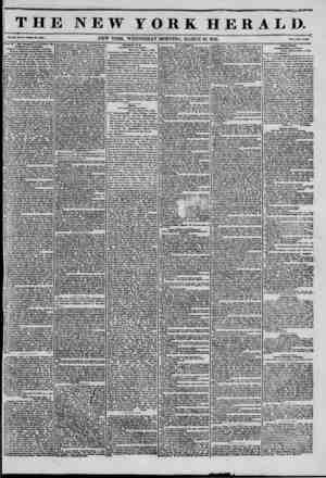 """THE NEW YORK HERiL V """"- """"-""""-""""??""""-??? NEW YORK. WEDNESDAY MORNING. MARCH 19, 1845. ?* r*r.?, of ?B1g Thundar'* ? Anti-Bent Ds"""