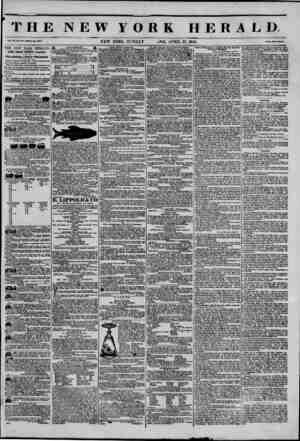 THE NEW YORK HERALD Mo. I04~ WboU do. ?W4, THE NEW YORK HERALD. JAMES CORDON BENNETT, Proprietor. Circulation?Forty Thousand.