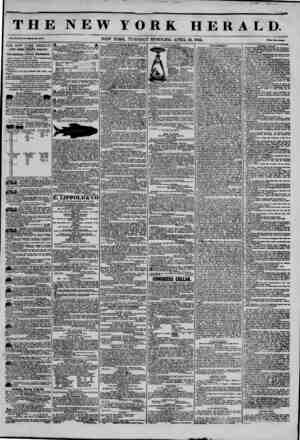 THE NEW YORK HERALD. Vol. XI., Mo. 104-WhoU Mo. 4086 , NEW YORK. TUESDAY MORNiJVG. APRIL IS, 1846. Mm *wo Coats.' THE NEW...