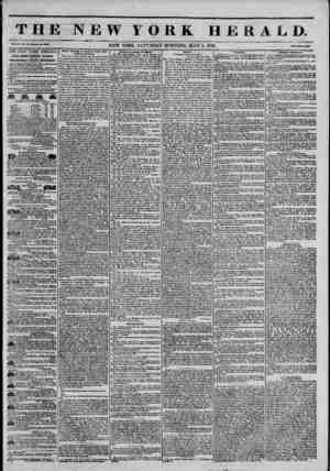 "----- - THE NEW YORK HERALD. v"" NEW YORK. SATURDAY MORNING. MAY 3. 1845. THE NEW YORK HERALD. JA31ES GORDON BENNETT,..."