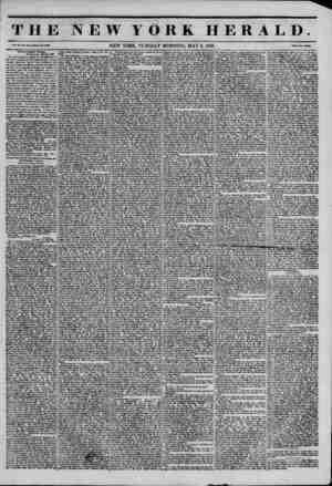 THE NEW YORK HERALD. Vol. XI., No. Ht-Whol* No. 40M6. NEW YORK, TUESDAY MORNING, MAY 6, 1845. PiU? Two C?nta Trial of CapUla