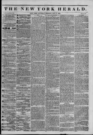 THE NEW YORK HERALD. Vol. XI., No. 134?.Whole No. 4090. NEW YORK, SATURDAY MORNING, MAY 17, 1845. PrtM Two Cents* THE NEW...