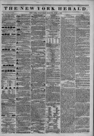 "THE NEW YORK HERALD. ?. n? ?... NEW YORK, WEDNESDAY MORNING, JUNE 4, 1845. <??"" *?? <*??. 4 THE NEW YORK HERALD. JAMES GORDON"