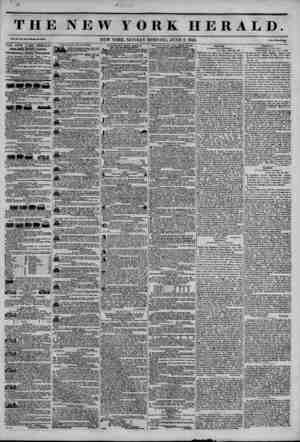 THE NEW YORK HERALD. Vol. XI., No. 157?Whole No. 4010. Price Two Centa. THE NEW YORK HERALD. JAMES GORDON BENNETT,...