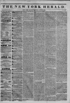 THE NEW YORK HERALD. Vol. XI., No. 164?Whole No. 40)40. NEW YORK, MONDAY MORNING, JUNE 16, 1845. . Price Two Cent*. THE NEW