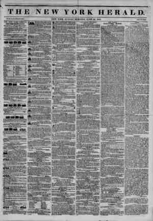 THE NEW Y O iR K H E R A L T>. Vol. XI., So, 170?Wbol* No. 4039. NEW YORK, SUNDAY MORNING, JUNE 22, 1845. Price Two Cent*.
