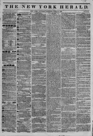 THE NEW YORK HERALD NEW YORK, SATURDAY MORNING. JUNE 28. 184ft. THE NEW YORK HERALD. JAMES GORDON BKMKTT, Proprietor,...