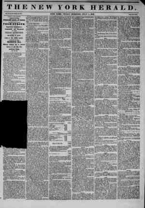 THE NEW YORK HERALD. Vol. No. UX-Whote Ho. 4044. NEW YORK, FRIDAY MORNING, JULY 4, 1845. Prlct Two Coats. ADAMS & CO'S...
