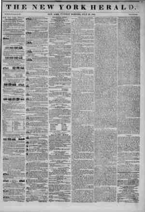 THE NEW YORK HERALD. Vol. XX., No. 190~Whol( No. 406W. THE NEW YORK HERALD. JAMES CORDON BENNETT, Proprietor, Circulation ?